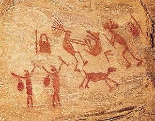 dança no tempo das cavernas